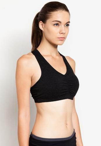 Energy Cotton Sports Bra in Black (S - 2XL)