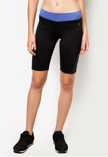 FUNFIT Bike Shorts in Black/Blue (S - L)