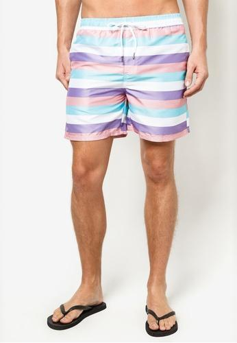 Men Boardshorts in Pastel Strips (S - 2XL)