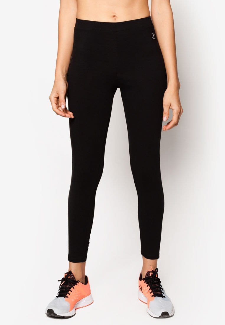 Basic Tapered Leggings in Black (S - 3XL)
