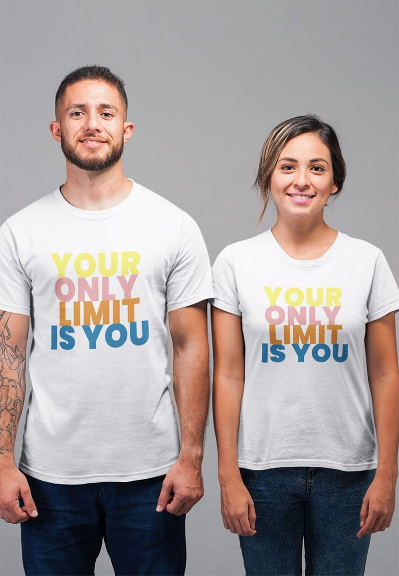Your Only Limit T-shirt in White