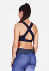 Luxtride Cross-Back Bra in Indigo - FUNFIT