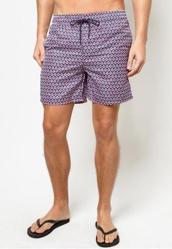 Men Boardshorts in Mod Deco Print - FUNFIT