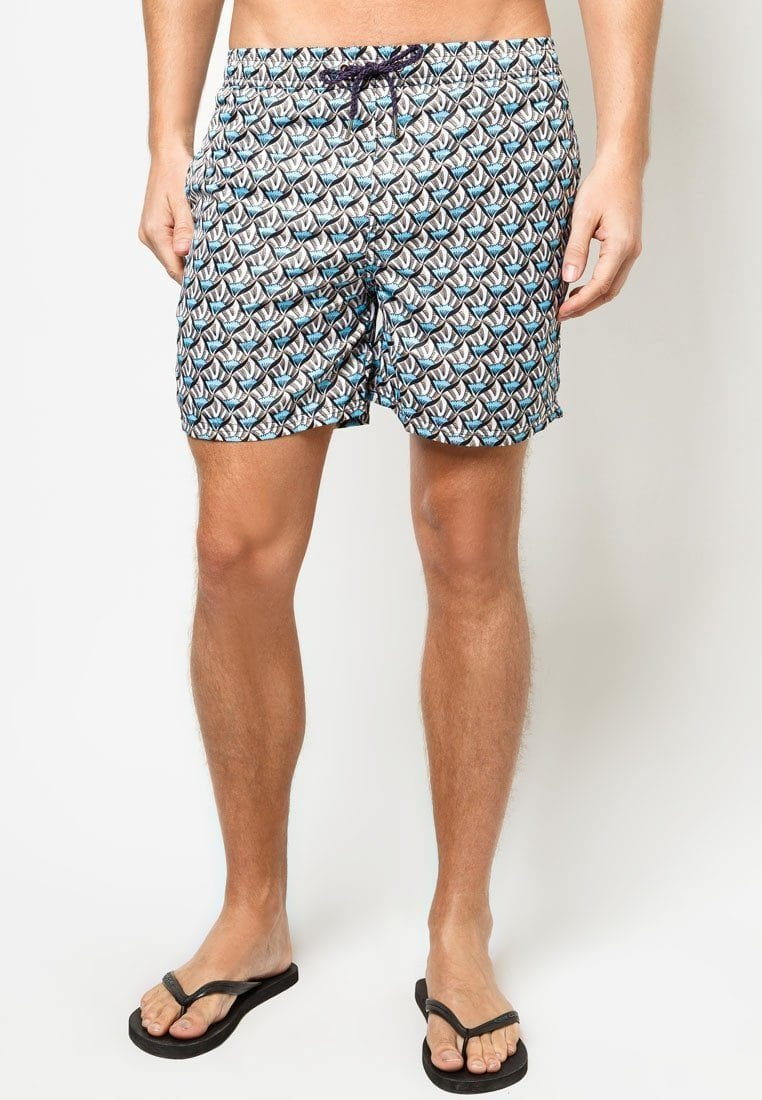 Men Boardshorts in Oceanside Print - FUNFIT