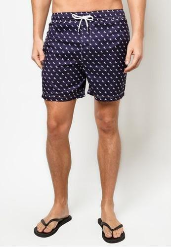 Men Boardshorts in Royal Pony Print - FUNFIT
