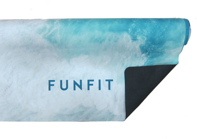 Oceanic Yoga Towel Mat 1mm (with rubber bottom)-FUNFIT