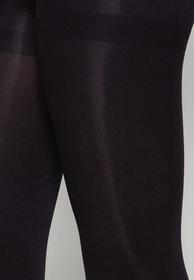 Opaque Tights in Black (Footless) 80 Denier - FUNFIT
