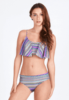 Swim Set: Overlay Crop Top and Brief in Grafikk Print - FUNFIT