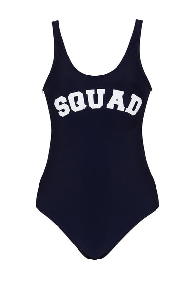 """Squad"" Swimsuit in Navy-FUNFIT"