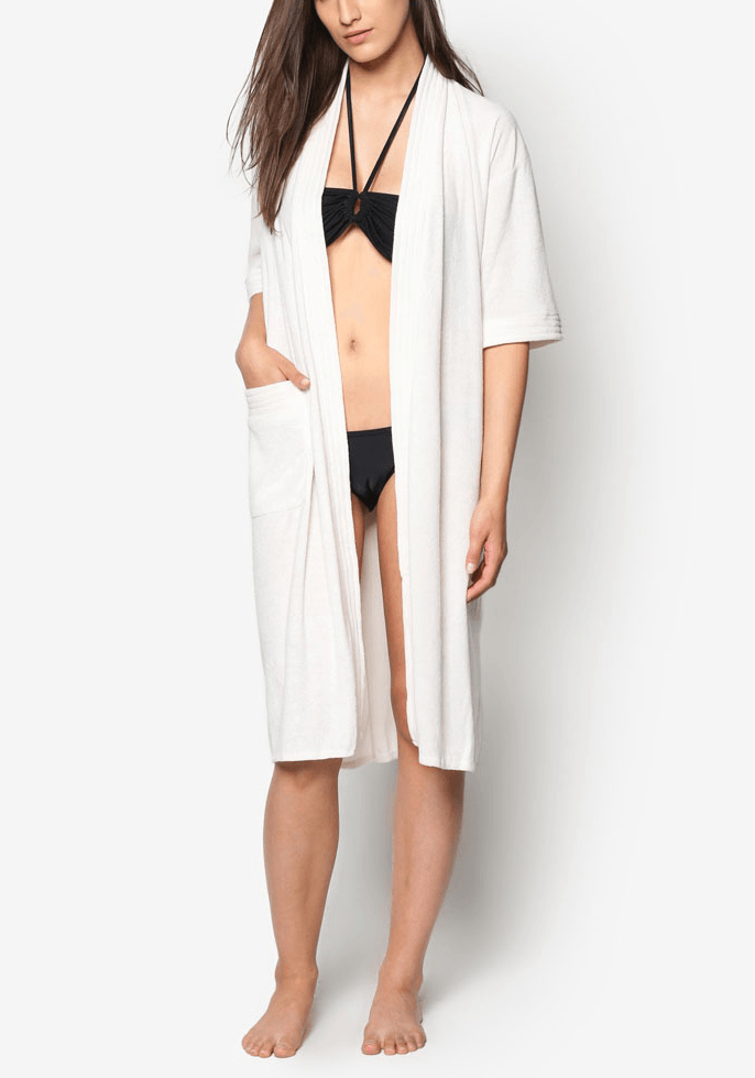 Swim Robe in Cream - FUNFIT