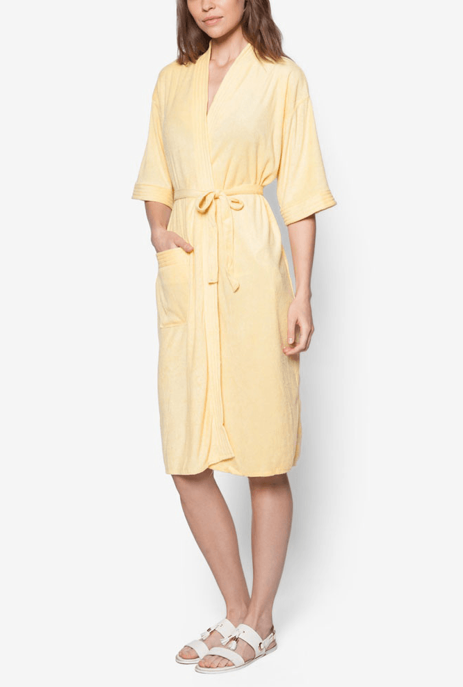 Swim Robe in Lemon