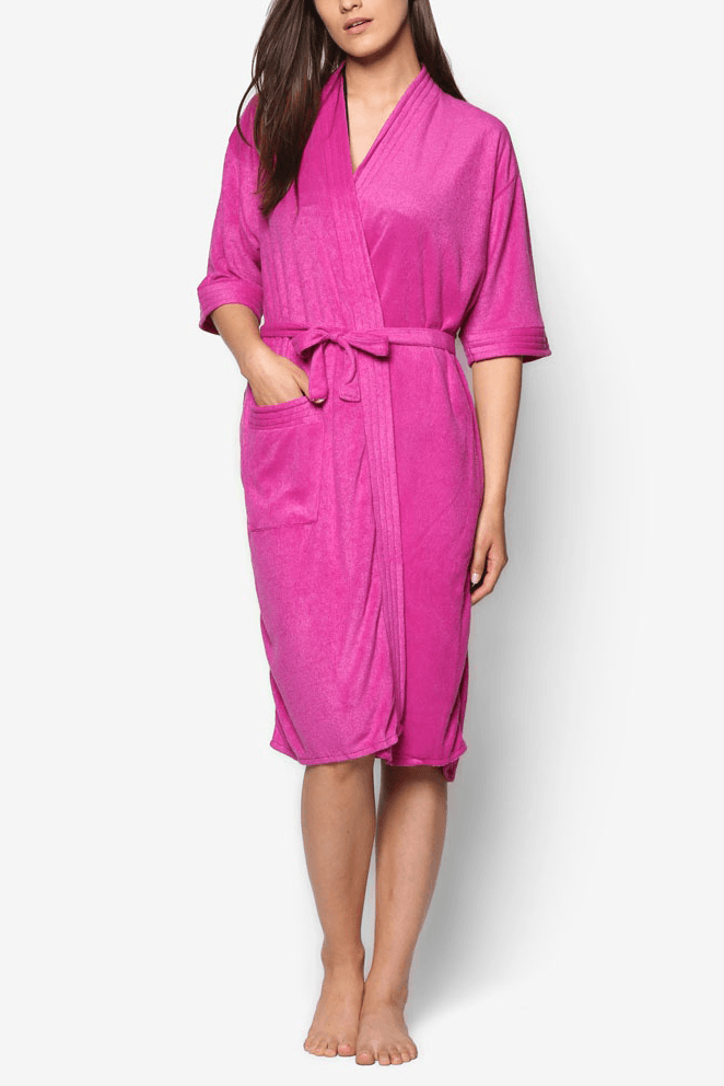 Swim Robe in Magenta