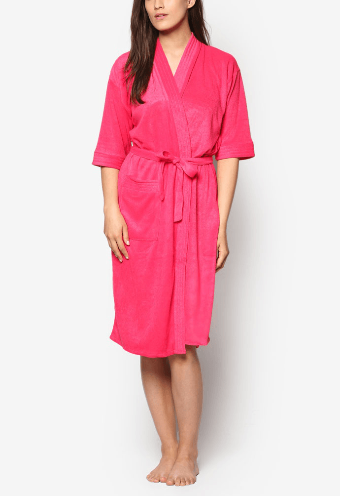 Swim Robe in Raspberry