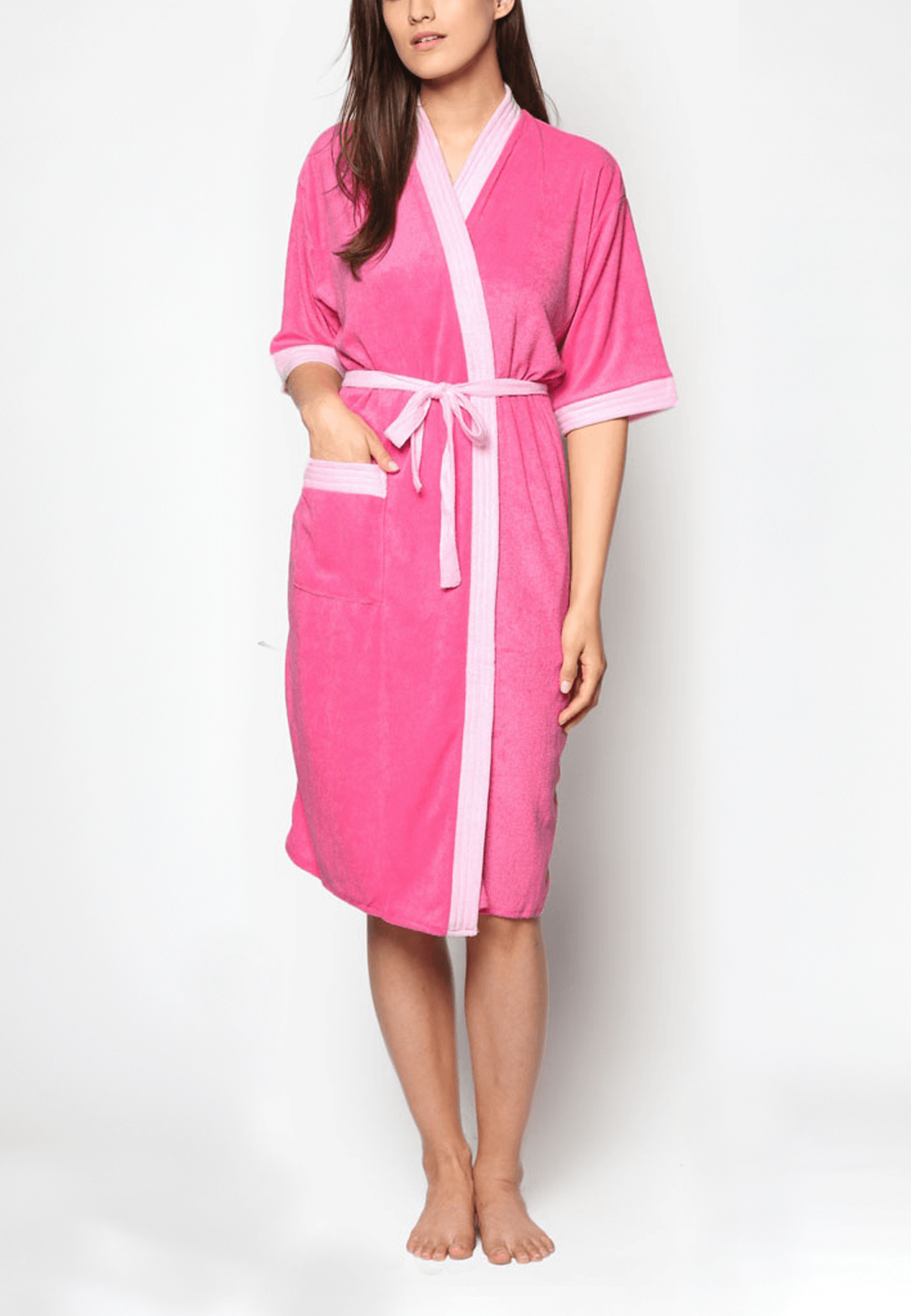 Swim Robe in Rose/ Light Pink