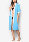 Swim Robe in Turquoise/ White - FUNFIT