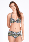 Underwire Bikini Top (with Bow) in Rhapsody Print - FUNFIT