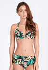 Underwire Bikini Top (with Bow) in Tropicana Print - FUNFIT