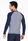 UPF50+ Crew Neck Rash Top in Nautical/ Navy - FUNFIT