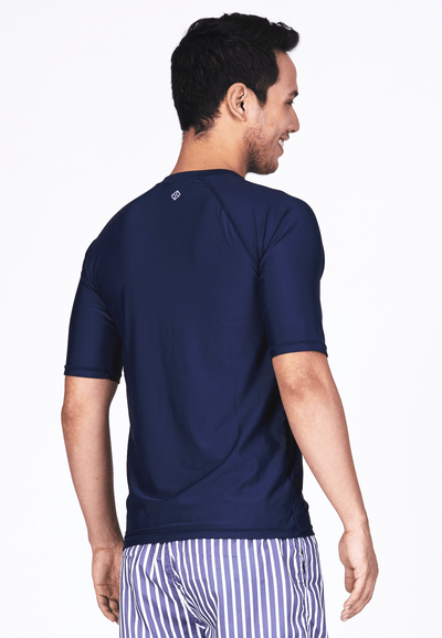 UPF50+ Crew Neck Tee in Navy - FUNFIT