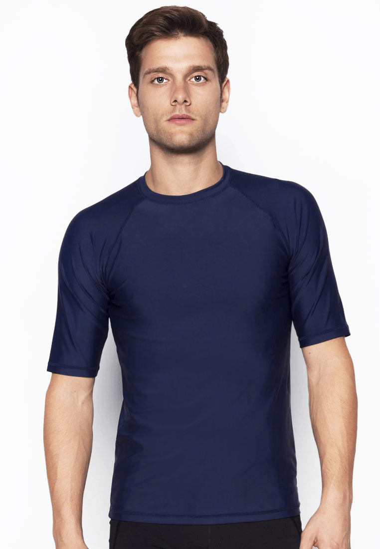 UPF50+ Crew Neck Tee in Navy