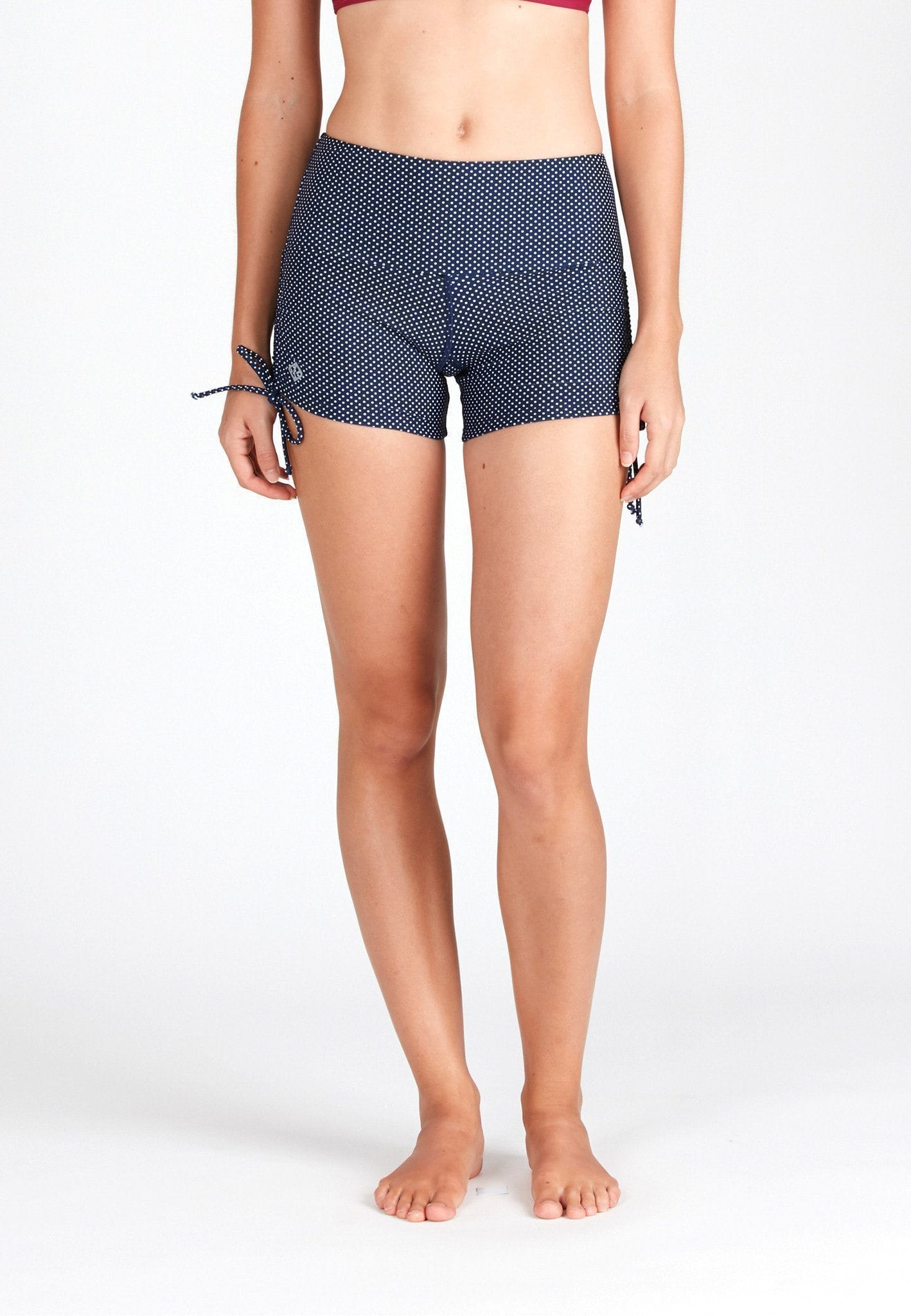 Wide Waistband Shorts in Dotted Print - FUNFIT