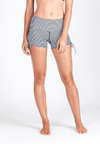 Wide Waistband Shorts in Striped Print - FUNFIT