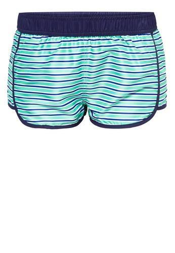 Women Beach Shorts in Eccentric Stripes-FUNFIT