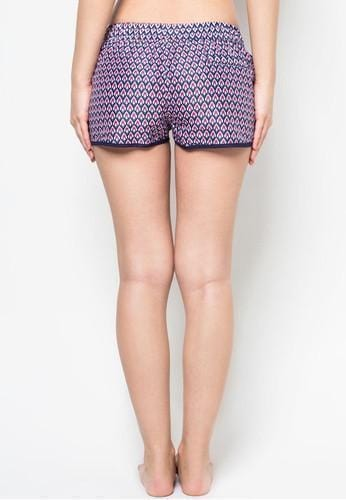 Women Beach Shorts in Mod Deco Print - FUNFIT