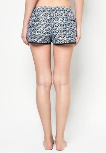 Women Beach Shorts in Oceanside Print - FUNFIT