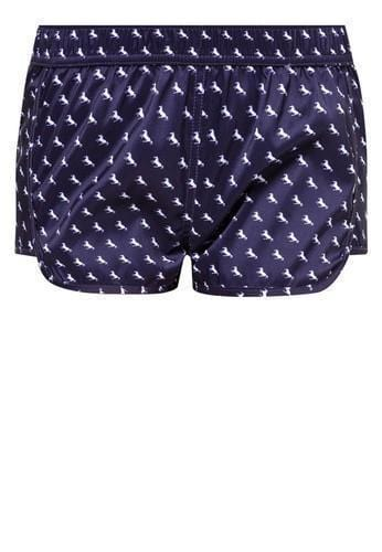 Women Beach Shorts in Royal Pony Print - FUNFIT