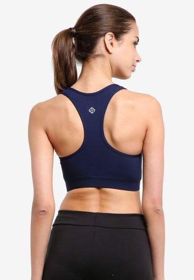 All Day Support Sports Bra in Navy (S - 3XL) - FUNFIT