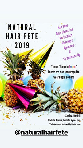 We will be at the HAIR FETE on Sunday June 9th, 2019