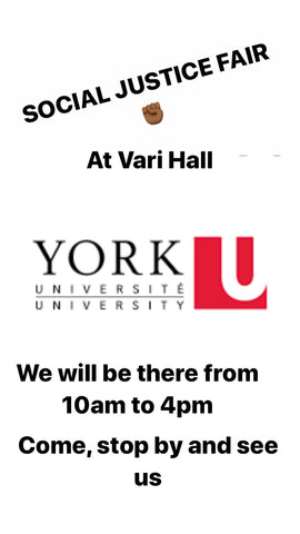 We will be at York University in the Vari Hall from 10am to 4pm