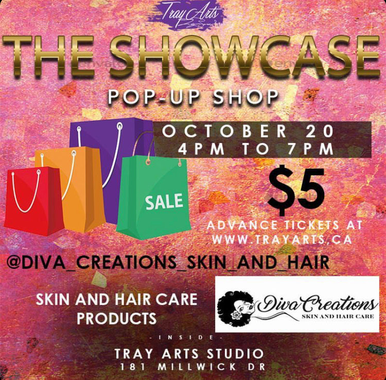 Tray arts pop up On October 20th from 4pm to 7pm