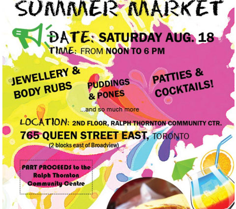 We will be at Jamaican eats on August 18th from 12pm to 6pm at 765 Queen street East