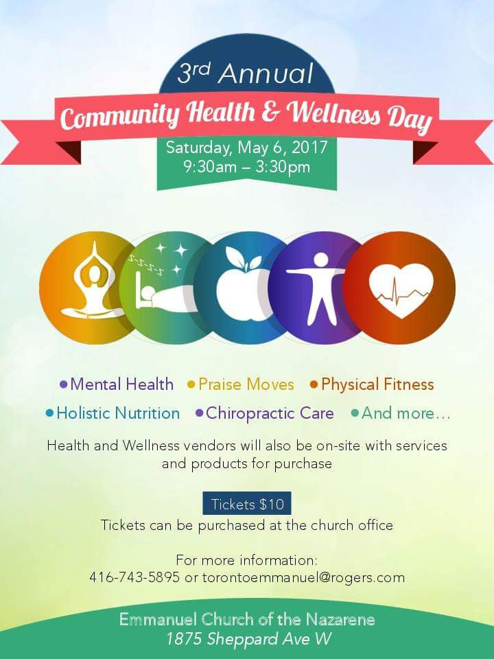 We will be a vendor at Community health and.wellness this Saturday May 6, 2017