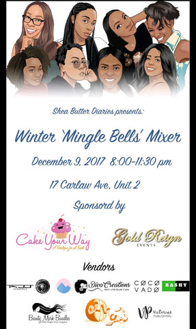 "We will be vendors at the WINTER ""MINGLE BELLS"" MIXER on December 9th from 8pm to 11:30pm"