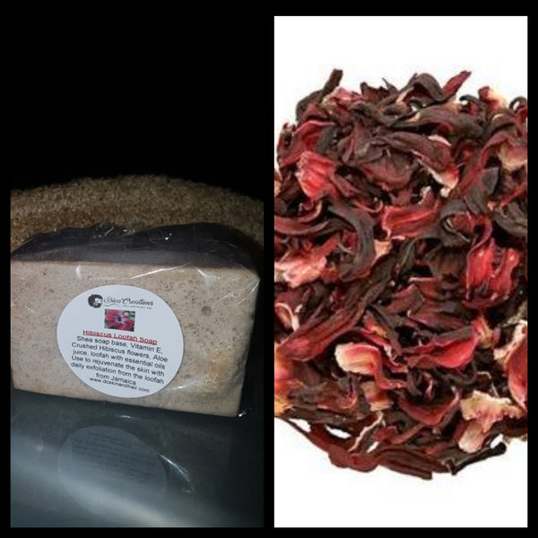 Hibiscus loofah soap - NEW PRODUCT