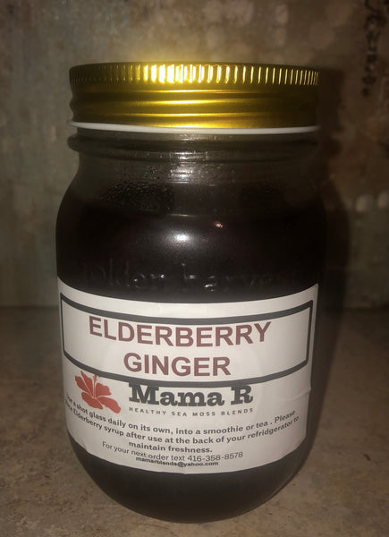 ELDERBERRY GINGER SEA MOSS - PICK UP ONLY