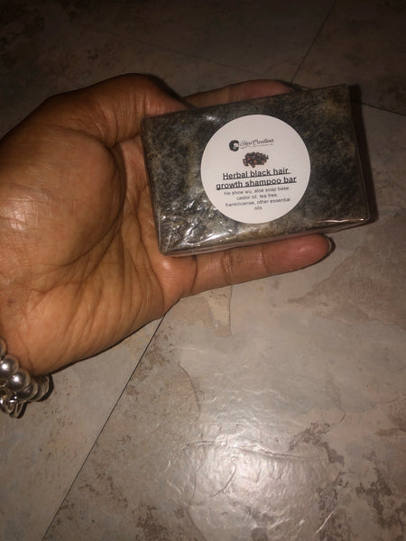 Herbal black growth shampoo bar