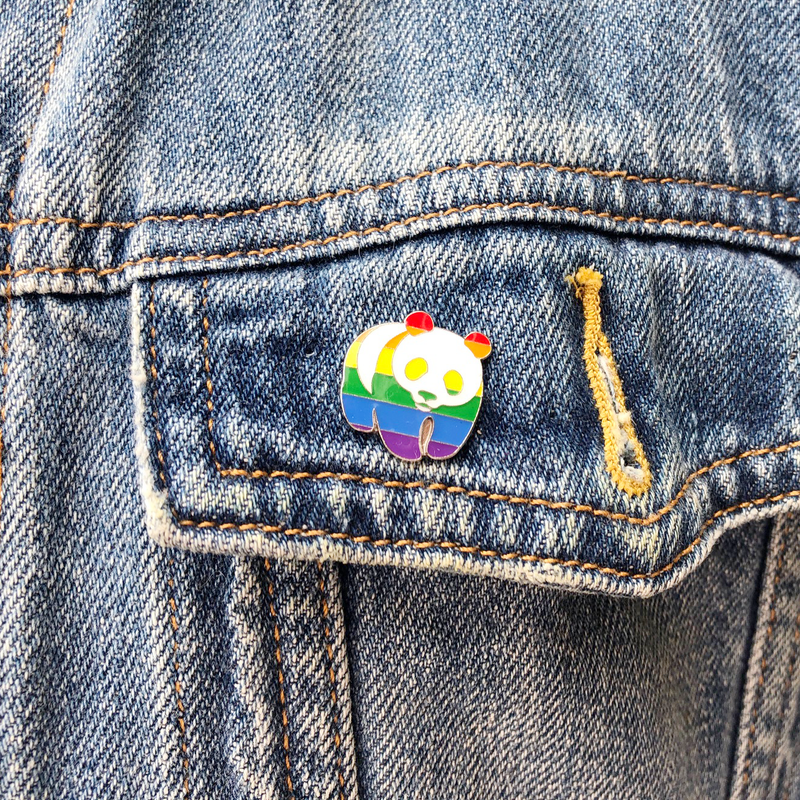 Rainbow Panda Badge - Limited Edition