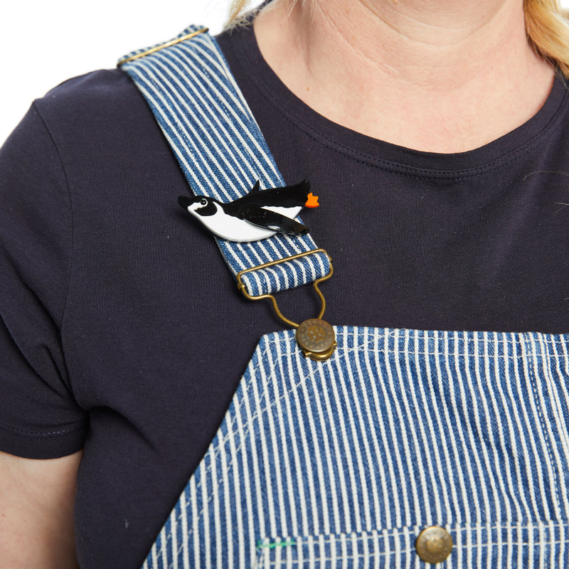 Tatty Devine Penguin Brooch
