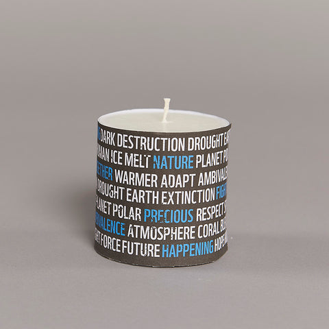Earth Hour Pillar Candle