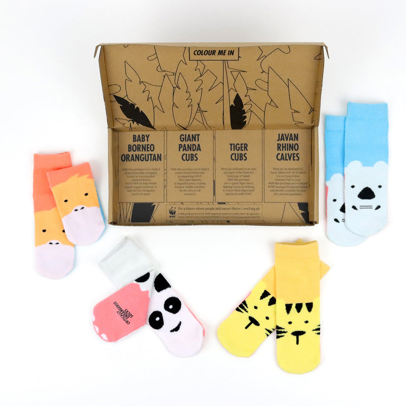 Critically Endangered Baby Socks - 4 pack