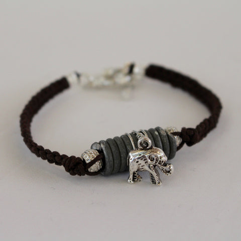 Elephant Limited Edition Snare Wire Charm Bracelet