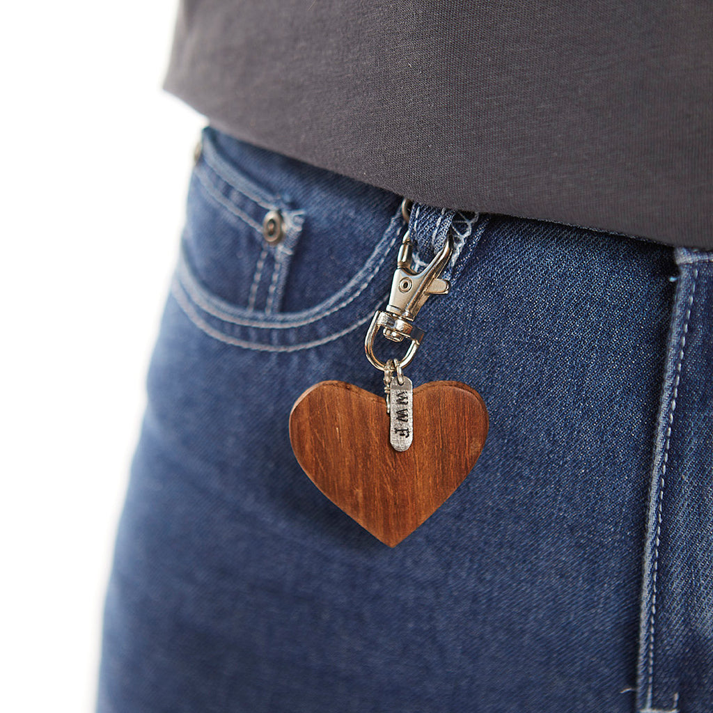 Heart Charm Key Ring