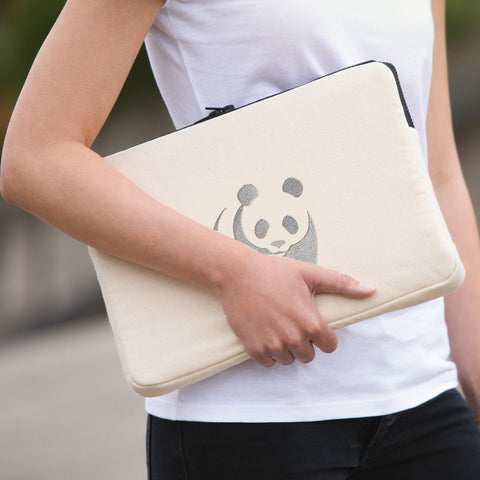 "Panda Logo 15"" Laptop Case (embroidered)"