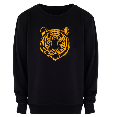 WWF x Zaggora - Men's Tiger Sweatshirt Black
