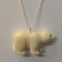 Tagua Nut Polar Bear Necklace