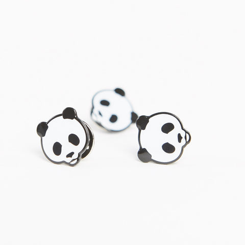 Panda Face Pin Badge